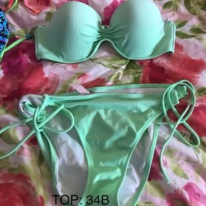 VS mint green bikini